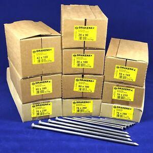 (3,30€/kg) 5 kg Drahtstifte BLANK 80 90 100 120 145 160 180 210 230 260 mm Nägel