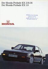 Honda Prelude EX 2.0i-16 EX 1.8 Prospekt 1985 Autoprospekt Broschüre 1601050