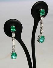 Emerald White Gold 18k Fine Earrings