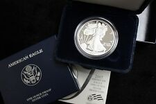 2007 UNITED STATES PROOF SILVER EAGLE COIN, MINT BOX AND PAPERS,ONE OUNCE SILVER