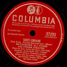 METRONOME ALL STARS & FRANK SINATRA  Sweet Lorraine  78rpm Schellackplatte X2583