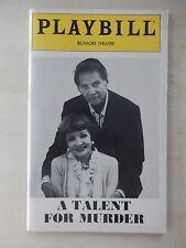 November 1981 - Biltmore Theatre Playbill - A Talent for Murder - Corbert