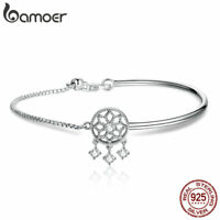 BAMOER Solid .925 Sterling Silver Bracelet Find Dream With CZ For Women Jewelry