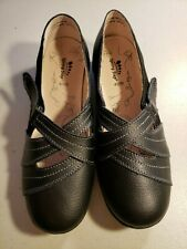 Spring Step Women's Black Mary Jane Flats Loafers Size 40 W