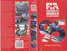 MOTOR SPORT  FIA FORMULA 1 WORLD CHAMPIONSHIP 95  VHS VIDEO PAL  A RARE FIND