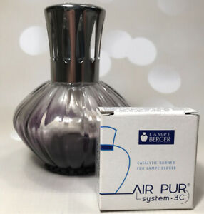 Purple Lampe Berger Fragrance Burner Lamp - Excellent Condition with Spare Wick