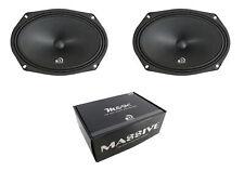 "Pair 6 x 9"" Sealed Back Midbass Midrange 8 Ohm Massive Audio Audio M69CL 480W"