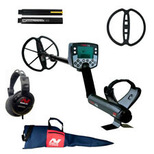 """Minelab E-Trac Metal Detector with 11"""" DD Search Coil and Deluxe Carry Bag"""