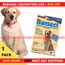 Sergeants Bansect Flea & Tick Control Treatment Medicine Dog Over 33. Lbs 1 Pack