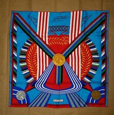 New  Authentic Les Jeux D' HERME Paris 100% Silk Scarf  90cm Multi-Color