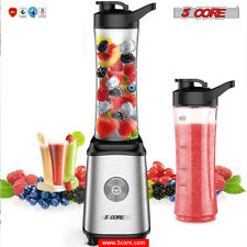 5Core Personal TRAVEL Portable Juicer Shake Smoothie Blender 2 Sport Bottle 300W
