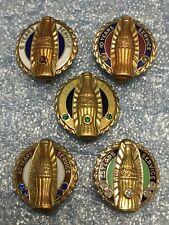 Coca Cola Service Pin 5 10 15 20 25 Yr Ruby Emerald Sapphire Diamond 10k Gold