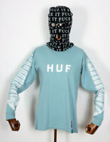 Huf Worldwide Skate Shoes Longsleeve L/S Tee T-Shirt Alas Dyed Cloud Blue in M