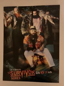 "WWF WWE Poster Print The Wyatt Family Survivor Series 2014 11/24/14 12"" x 16"""