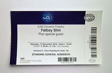 FATBOY SLIM TICKETS - Ticket Stub(s) The O2 Arena London 17/12/16 Memorabilia