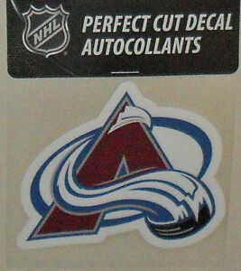 COLORADO AVALANCHE 4 X 4 DIE-CUT DECAL OFFICIALLY LICENSED PRODUCT