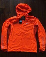 Nike Shield Max Men Running Jacket Orange 619433 Reflective Silver L MSRP $200