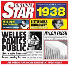 79th 1938 Birthday Gifts - 1938 Chart Hits Britpop CD and 1938 Greetings Card