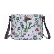 Signare Womens Tapestry Shoulder Handbag Across Body Messenger Bag Thistle