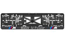 BMW M Power 2xECHTE 3D-Effekt Kennzeichenhalter Nummernschildhalter M3,M5,M6