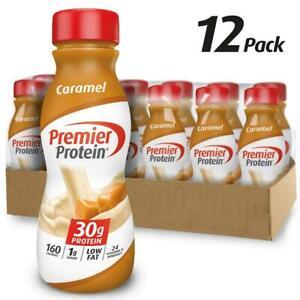 Premier Protein 30g Shake, Caramel, 11.5 Fl Oz (Pack of 12), Caramel