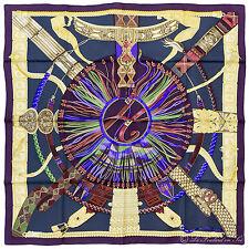 """§§§ foulard scarf carré Hermès neuf new  """" Ceintures et Liens """" §§§"""