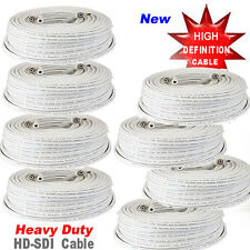 8x 100ft Rg59 High Definition Coaxial Cable Hd-Sdi Camera Ip Security Camera Fx