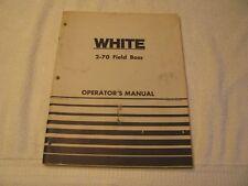 1976 White 2-70 Field Boss Tractor Operators Manual