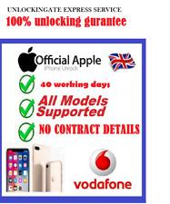 UNLOCKING IPHONE 8 8+ SE 6S 6 5 5S 4s 4 7 7+ VODAFONE UK SERVICE CODE FACTORY 6+