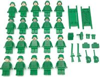 LEGO 20 NEW ARMY MINIFIGURES WORLD WAR 1 2 HERO MEN WITH WEAPONS SWAT FIGURES