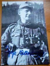 UNIQUE - JOSEPH SEPP ALLERBERGER GERMAN SNIPER SIGNED PHOTOGRAPH