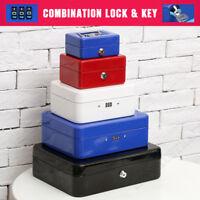 Cash Box Safe Storage Metal Lock Security Key/Code Lock Children Gift Toy