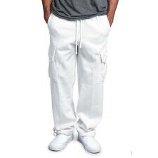 Fashion Men's Jogger Heavy Weight Fleece Cargo Pocket Sweat Pants Drawstring USA