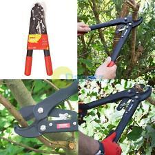 Hedge Tree Trimmer Lightweight Ratchet Lopper Bush Branch Cutter Garden Shears
