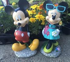 """Brand New 11"""" Disney Mickey and Minnie Mouse Statue Figurines and Lamp Posts!!"""