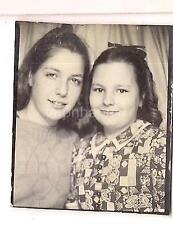 Darling Young Tween/Teen Girls BFFs Best Friends Vintage Photobooth Photo