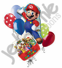 7pc Super Mario Brother Happy Birthday Balloon Bouquet Party Decoration Nintendo