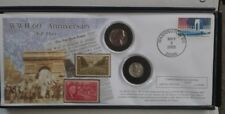 WW II 60th Anniversary 2 Coin And Stamp Commemorative Set Limited Edition #2047