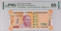 INDIA 200 RUPEES 2018 P 113 SUPERB GEM UNC PMG 68 EPQ TOP POP