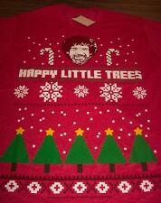 BOB ROSS Happy Little Trees CHRISTMAS Sweater Style T-Shirt MEDIUM NEW w/ TAG