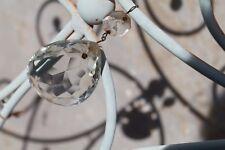 "12 Vintage Chandelier Crystals, Glass Teardrop Prisms, Christmas Ornaments 3.5"""