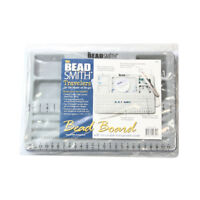 7.75 by 11.25-Inch The BeadSmith Travel Bead Design in Beading Board and Gray Flock with Lid