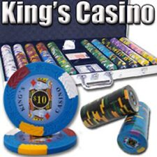 New 750 Kings Casino 14g Clay Poker Chips Set with Aluminum Case - Pick Chips!