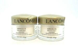 Lot / 2 Lancome Absolue Premium Bx Day Cream ~ .5 Oz. Each ( See Description )