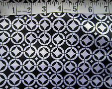 """Black & White Geometric Polyester Satin 60""""  Wide Crafts by Metre Monochrome 60s"""