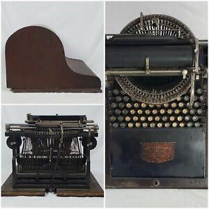 Antique 1882 Caligraph 2 Typewriter Rare Original Working Writing Machine & Case