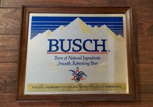 Vintage Anheuser Busch Beer Mirror Bar Sign 1978
