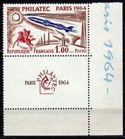 #812 - Francia - Philatec con interspazio (angolo foglio), 1964 - Nuovo (** MNH)