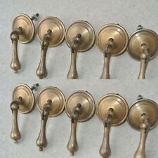 10 small knob pulls handles brass door old vintage old style drops knobs 5 cm B