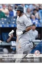 2018 Topps NOW MLB 226 Aaron Hicks Multiple Inside-the-Park HRs Matches Mantle